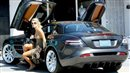 Paris Hilton's Mercedes Benz doors up