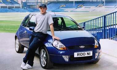 Wayne Rooney With His Ford Ka Automotive Pictures