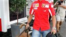 Michael Schumacher with a dog