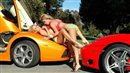 Two rich girls show off their Lamborghinis and Ferraris