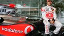 Lewis Hamilton with Mclaren F1 car