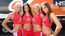MotoGP grid girl babes posing at a Grand Prix