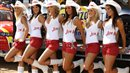 Sexy MotoGP babes put their cowboys hats on at a grand prix