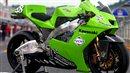 Green Kawasaki MotoGP bike