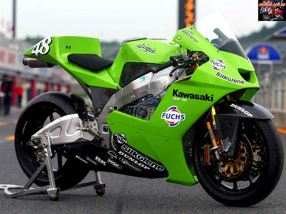 Green Kawasaki Motogp Bike Car Images On Automotivepictures Co Uk