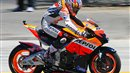 Nicky Hayden on his Honda Repsol motorbike at Laguna Seca MotoGP 2006