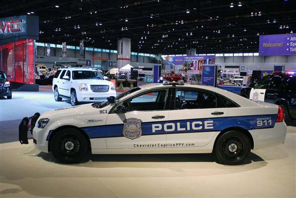 Chicago auto show chevrolet caprice police patrol vehicle for Chicago motors used police cars
