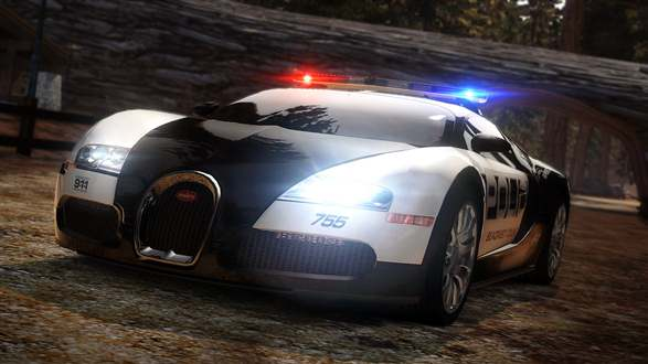 the coolest police car in the world the bugatti veyron car images on. Black Bedroom Furniture Sets. Home Design Ideas
